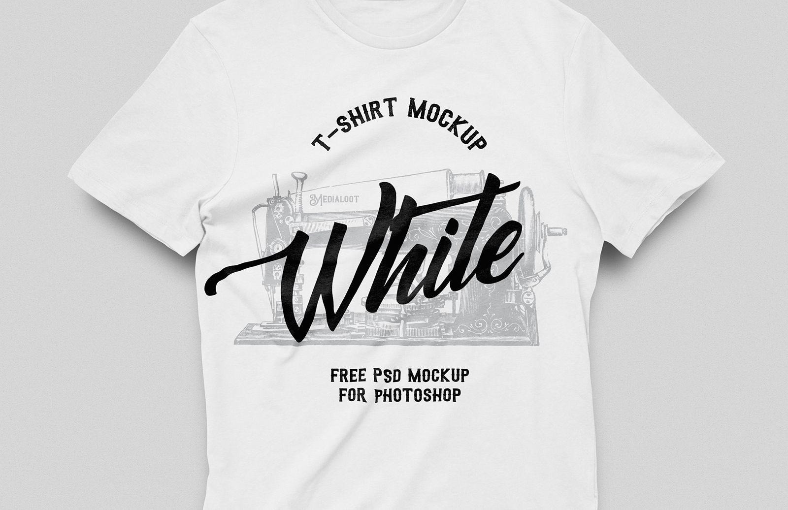 Free White TShirt Mockup Shirt mockup, Tshirt mockup