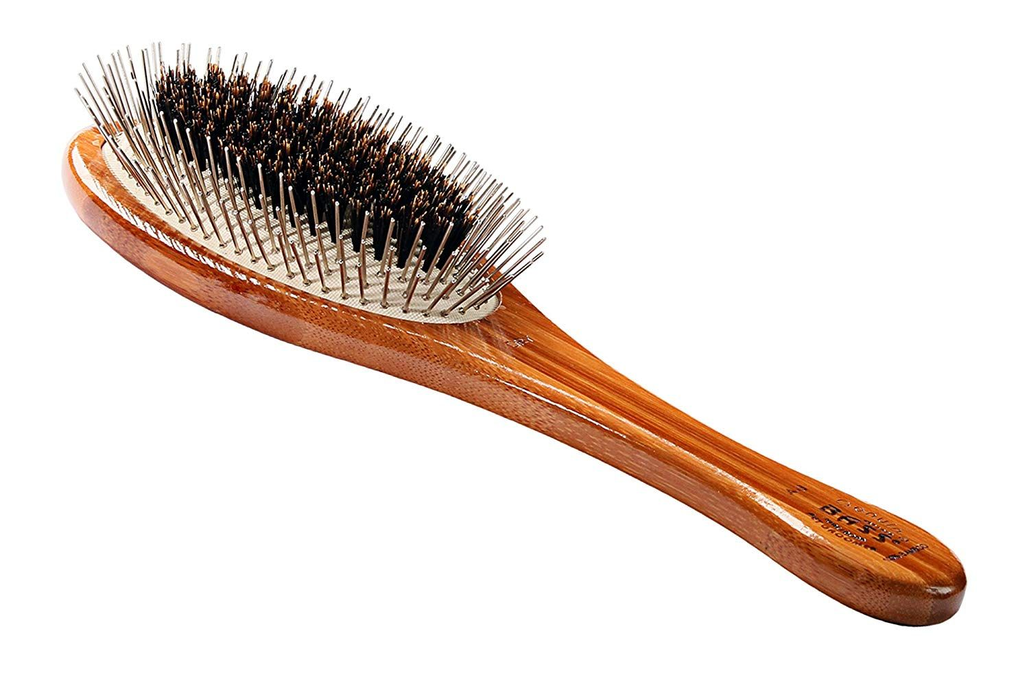 Bass Brushes Large Oval Wire And Boar Pet Brush With Bamboo Wood Handle Hope That You Actually Do Enjoy The Image This Is Our Af Pet Brush Wood Handle Boar