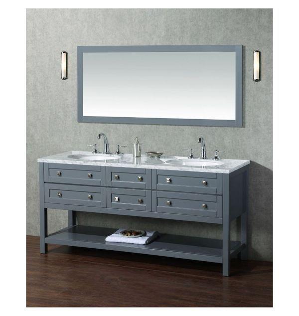 Stufurhome Hd 6868g 72 Cr 72 In Bathroom Vanity Vanity Set With