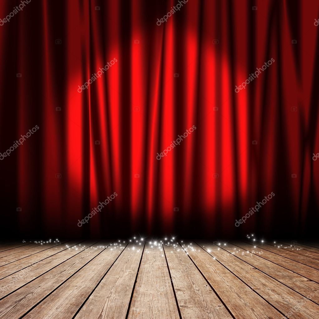 Stage Red Curtain Stock Photo Sponsored Red Stage