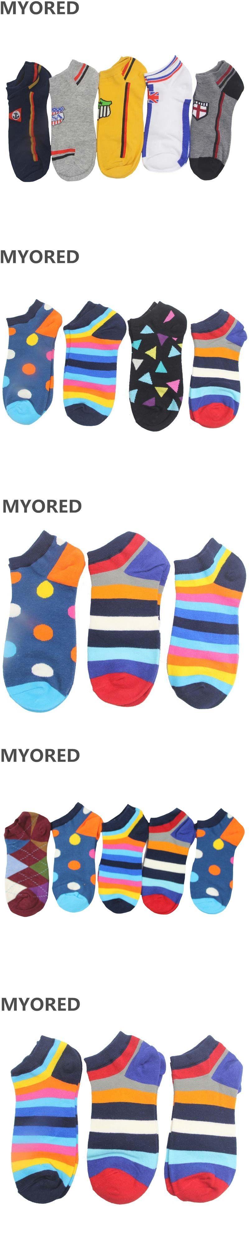 MYORED 5pairs=1 Lot mens socks womens cartoon sock slippers colorful
