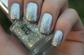 Photo of Image result for silver glitter nails