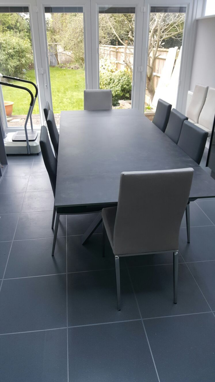 Super Fully Extended Xenon Ceramic Top Dining Table Table With 2X Download Free Architecture Designs Scobabritishbridgeorg