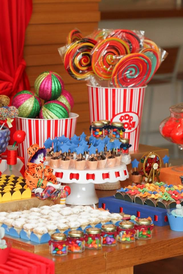 Circus Theme Decoration Ideas Part - 21: Carnival / Circus Theme Party Ideas Via Www.babyshowerideas4u.com  #babyshowerideas #babyshowerideas4u #circus #carnival Baby Shower Ideas For  Boy Ou2026