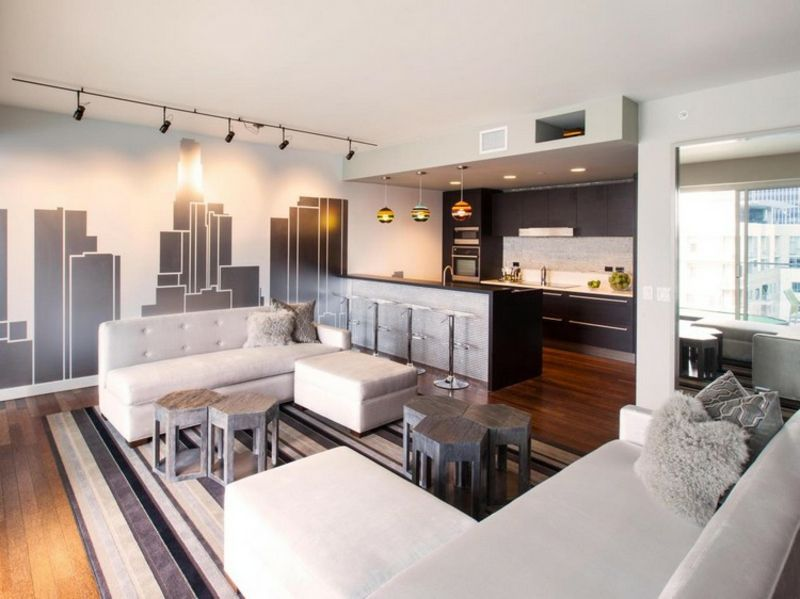 Wohnküche modern und praktisch gestalten – 40 tolle ...