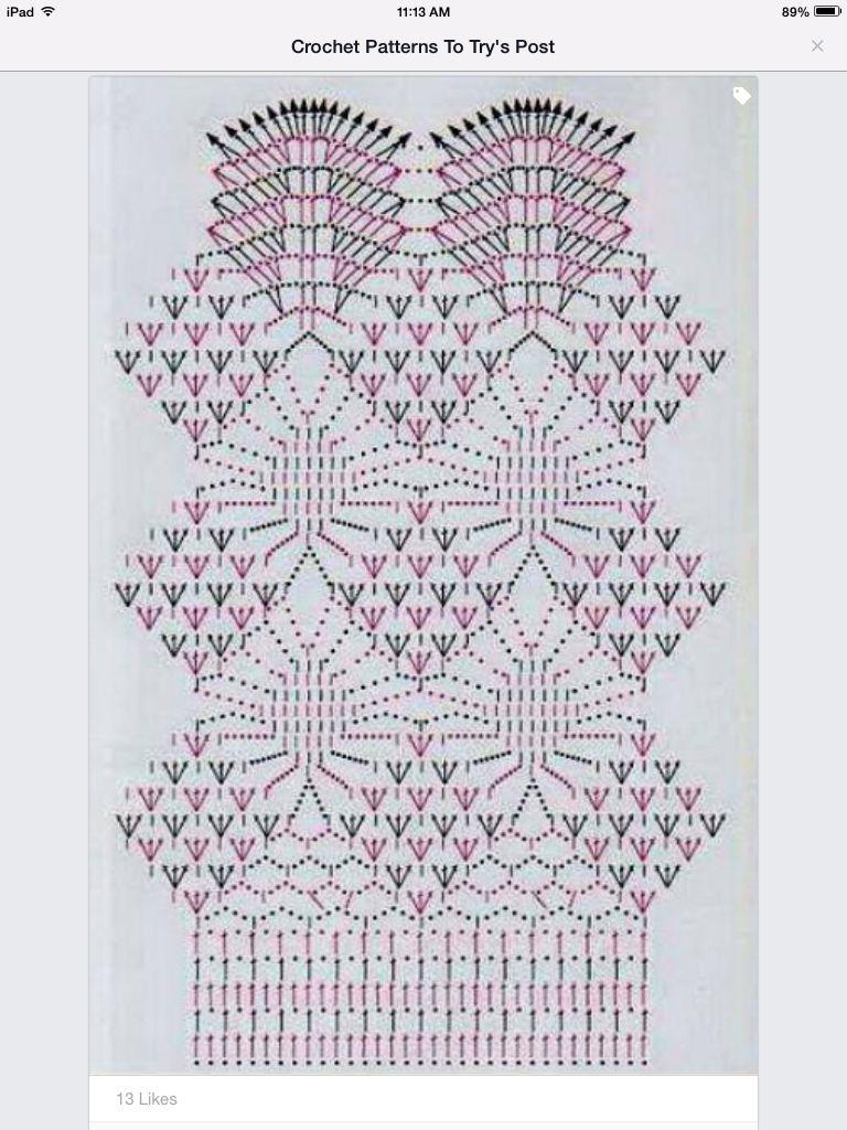 Esquema fb | Crochet skirt. | Pinterest | Esquemas, Vestidos túnicas ...
