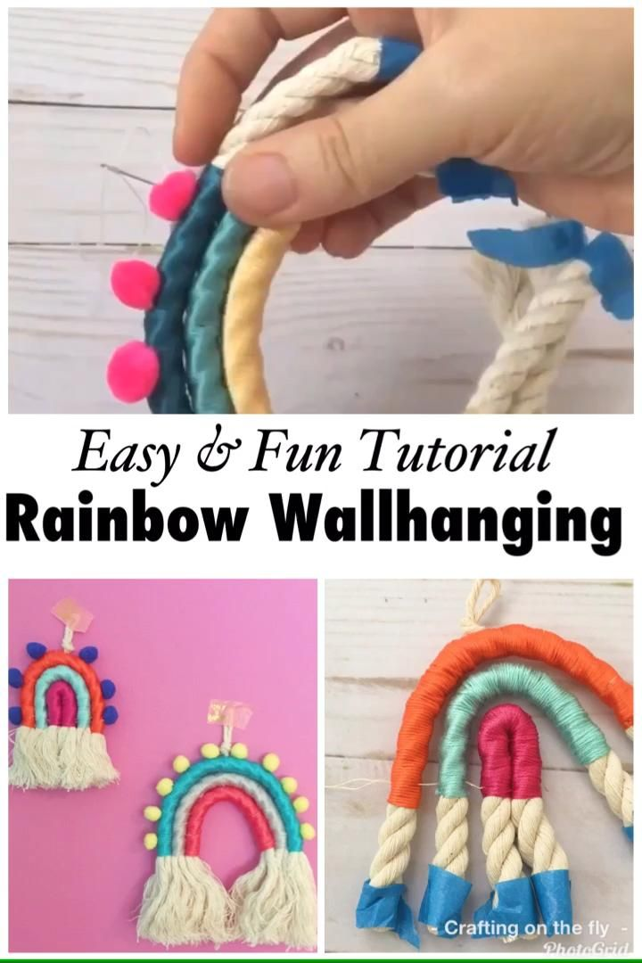 Photo of DIY Rainbow Wall Hanging tutorial – Crafting on the Fly
