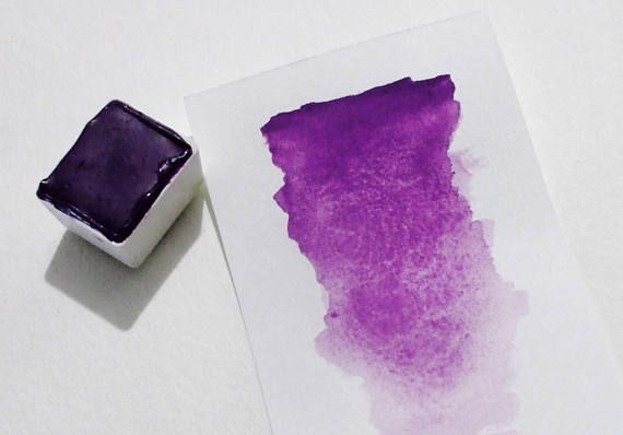Manganese Violet Handmade Watercolor Paint Watercolor Pans
