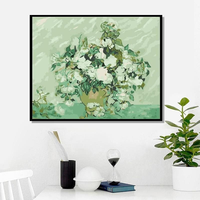 Photo of Flower Painting – 40x50cm no frame / Flower
