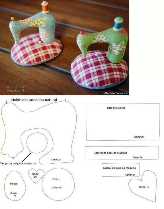 Patrón de alfileteros de maquinas de coser | blancos | Pinterest ...