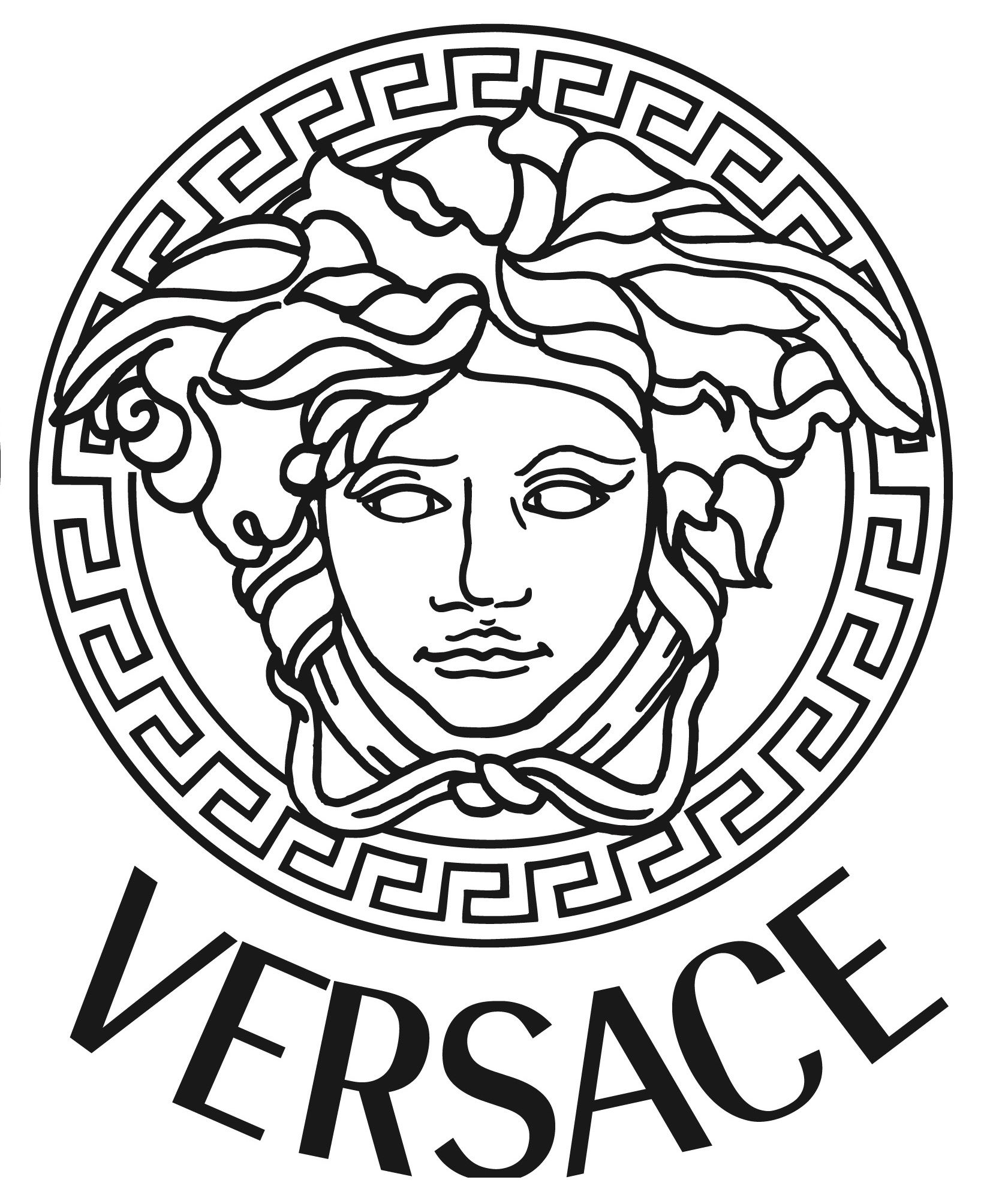 versace medusa gold vinyl sticker decal 3 sizes bumper wall