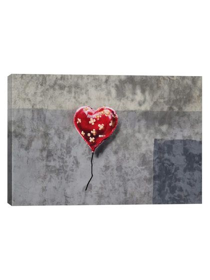 Bandage Heart (Full) by Banksy (Canvas) by iCanvas at Gilt