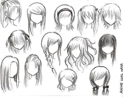 Anime Hairstyles For Girls Ponytail Hair Anime Character Drawing