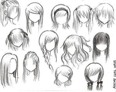 anime hairstyles girls ponytail