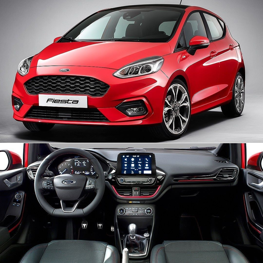 ford fiesta st line 2018 vers o esportiva tamb m revelada na nova gera o do hatch com design. Black Bedroom Furniture Sets. Home Design Ideas