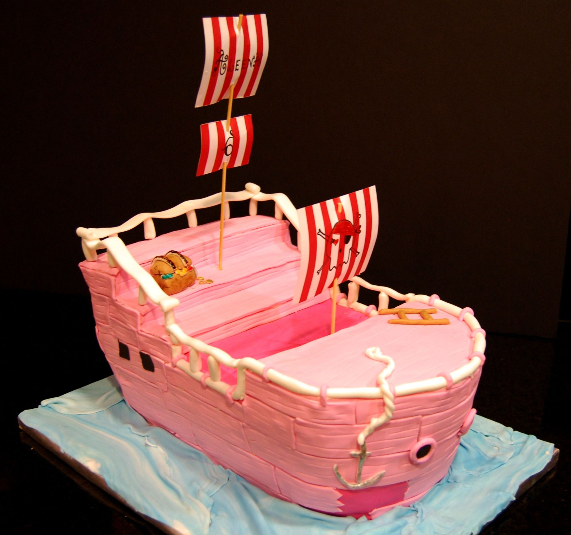 Pink Pirate Ship Cake Cakes and Cupcakes for Kids birthday party