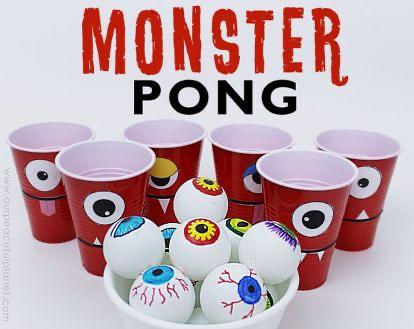 Monster Pong! Halloween entertaining, Halloween class