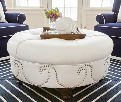 Awesome Coastal Amp Nautical Ottomans Diy Ottoman Beach