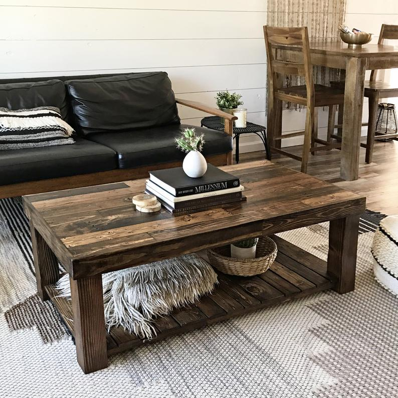 Reclaimed Wood Coffee Table Rustic Vintage Modern Accent Etsy In 2021 Coffee Table Decor Living Room Table Decor Living Room Wood Coffee Table Rustic