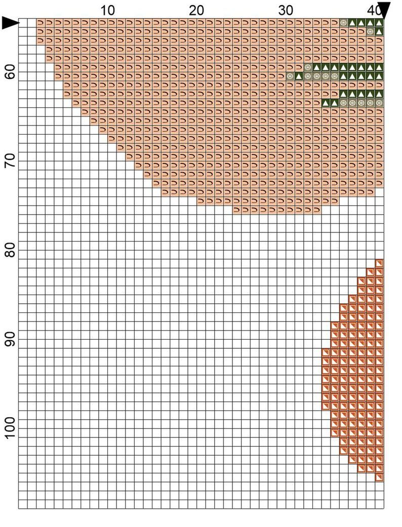 Botanical cross stitch pattern Simple abstract palm tree cross stitch pattern. Boho pattern PDF