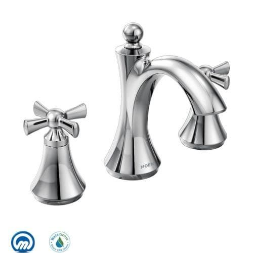 Moen T4524 Wynford Double Handle Widespread Bathroom Faucet (Less ...