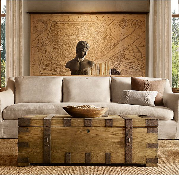 Dining Room  RH's Heirloom Silver-Chest Coffee Trunk https://www.restorationhardware.com/catalog/product/product.jsp?productId=prod1720013