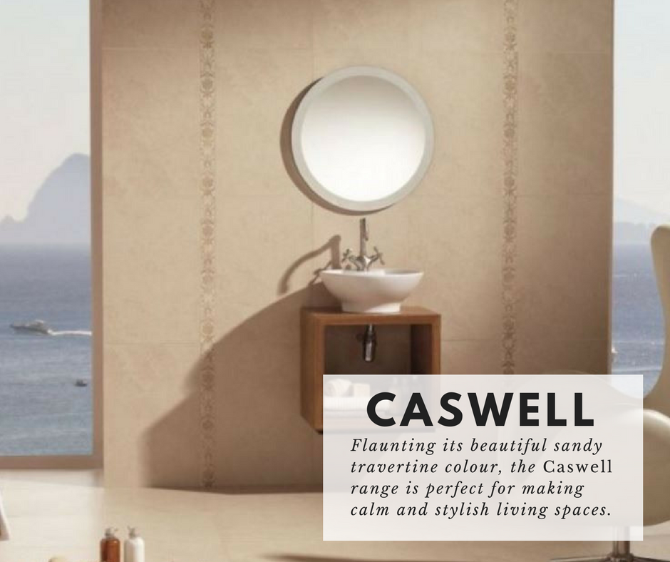 The Caswell range uses hardwearing porcelain to create a gorgeous travertine look tile. They are great for #feature #walls and other interior #design features. #tiles #porcelain #tiling #interior #thehome #2017style (http://www.directtilewarehouse.com/caswell-travertine-effect-tiles-cream-tiles/)