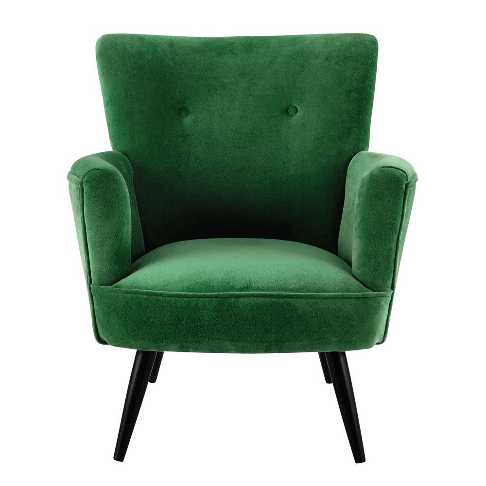 Poltrona verde in velluto bedroom decor ideas for Olijfgroene fauteuil