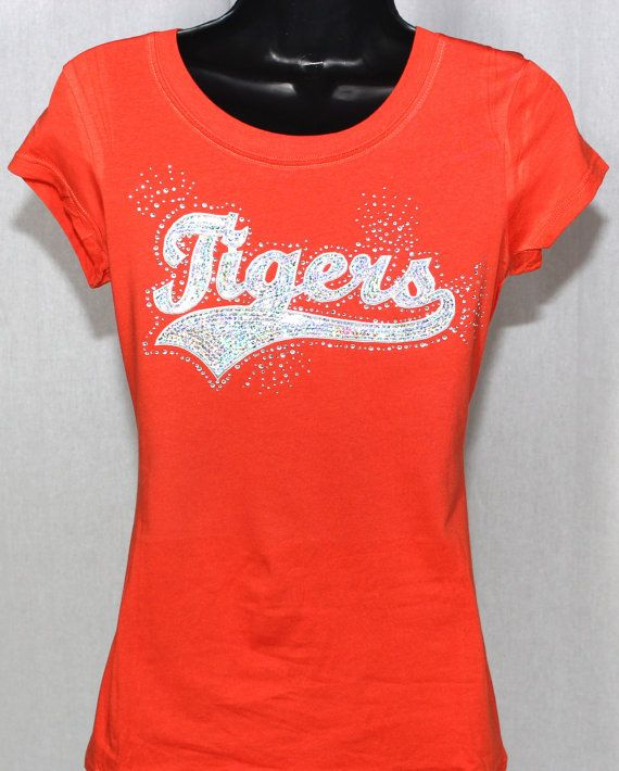 2ae6fc579a93 ON SALE - Tigers Ultimate Sequins and Rhinestone Bling T-shirt - Mascot  Series (