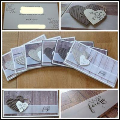 kreatives aus papier stampin up einladungen hölzerne hochzeit, Einladung