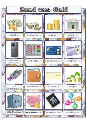 Rund ums Geld _ Bildwörterbuch | Arbeitsblätter | Pinterest ...