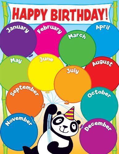 Classroom Decoration Happy Birthday ~ Scholastic tf panda birthday chart by http