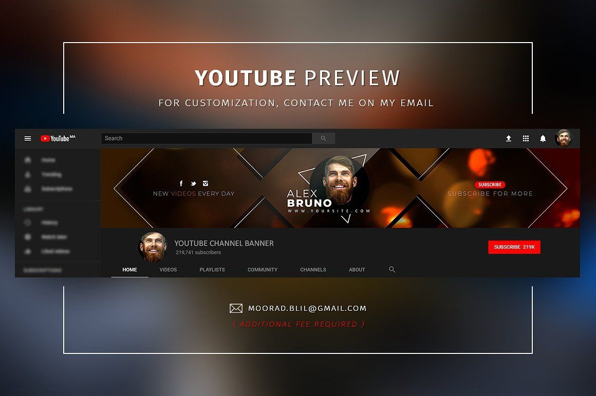 Creative Youtube Banners Youtube Banners Banner Youtube Banner Template