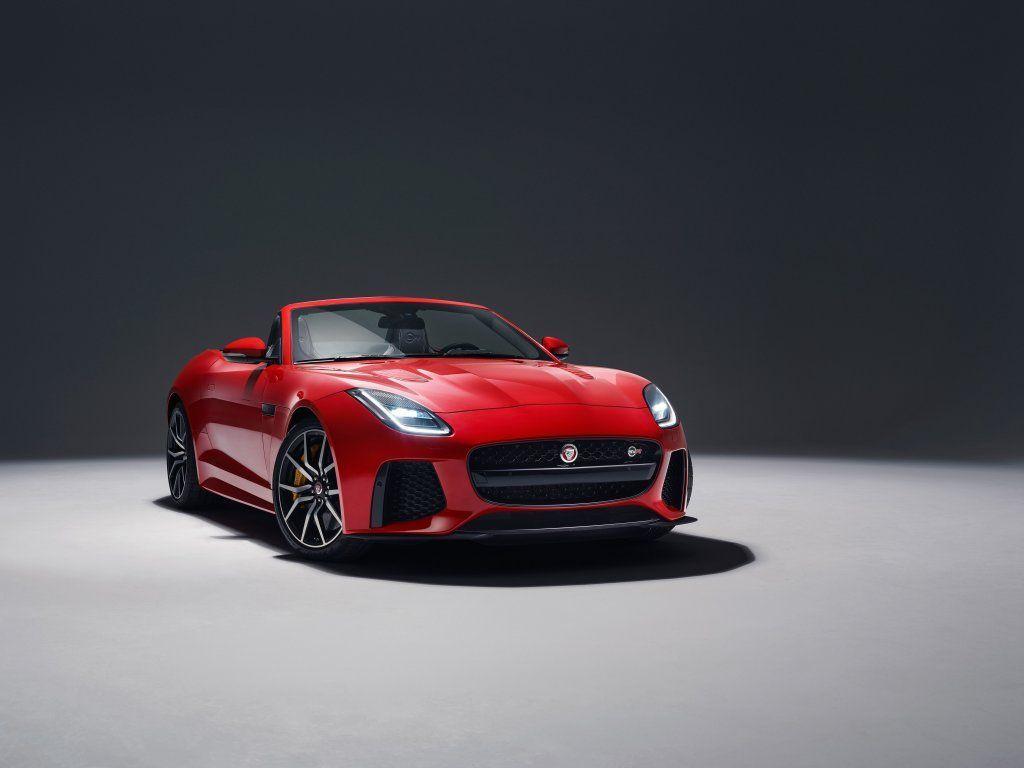 Jaguar F-TYPE SVR, red, front wallpaper