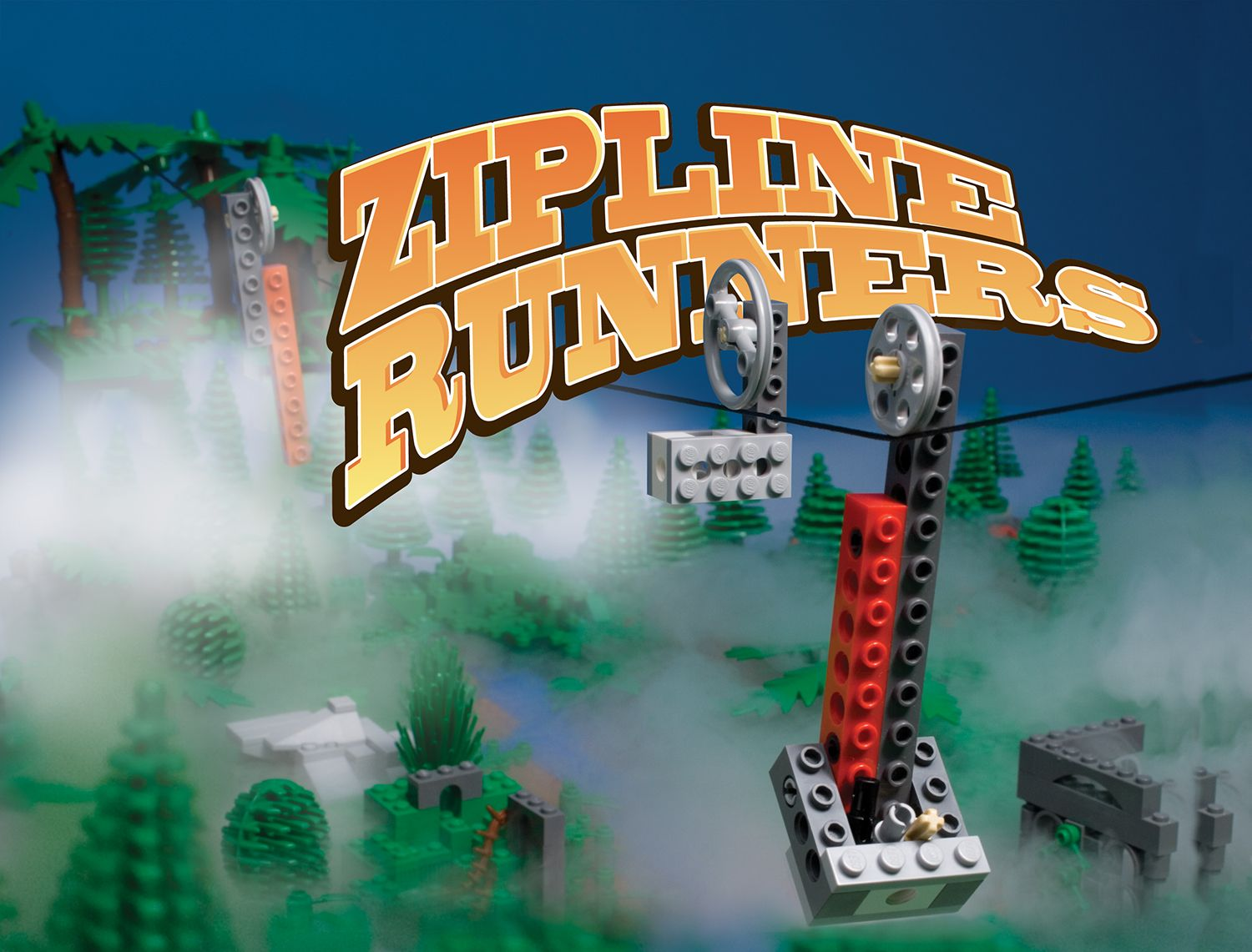 The Zipline Runners From Klutz S Lego Crazy Action Contraptions Available At Klutz Com Or A Toy Store Near You Lego Kits Toy Store Legos
