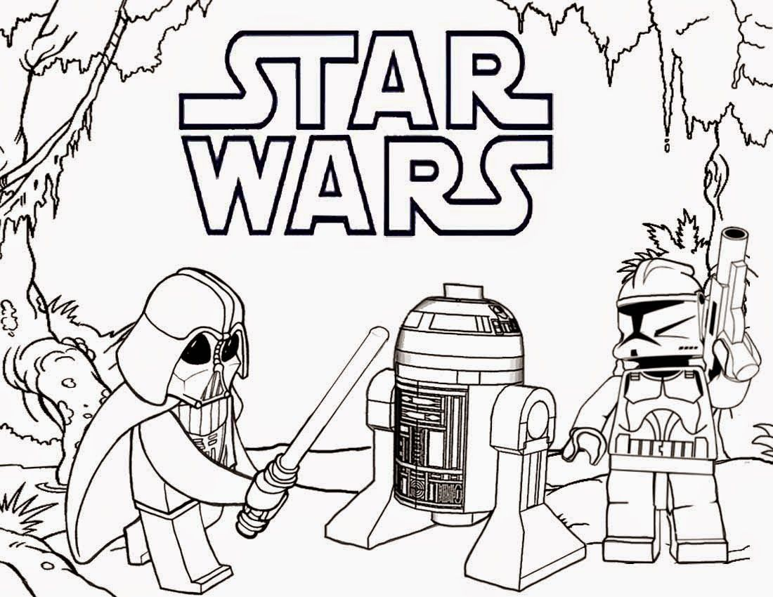 Printable Lego Coloring Pages Star Wars Star Wars Coloring Book