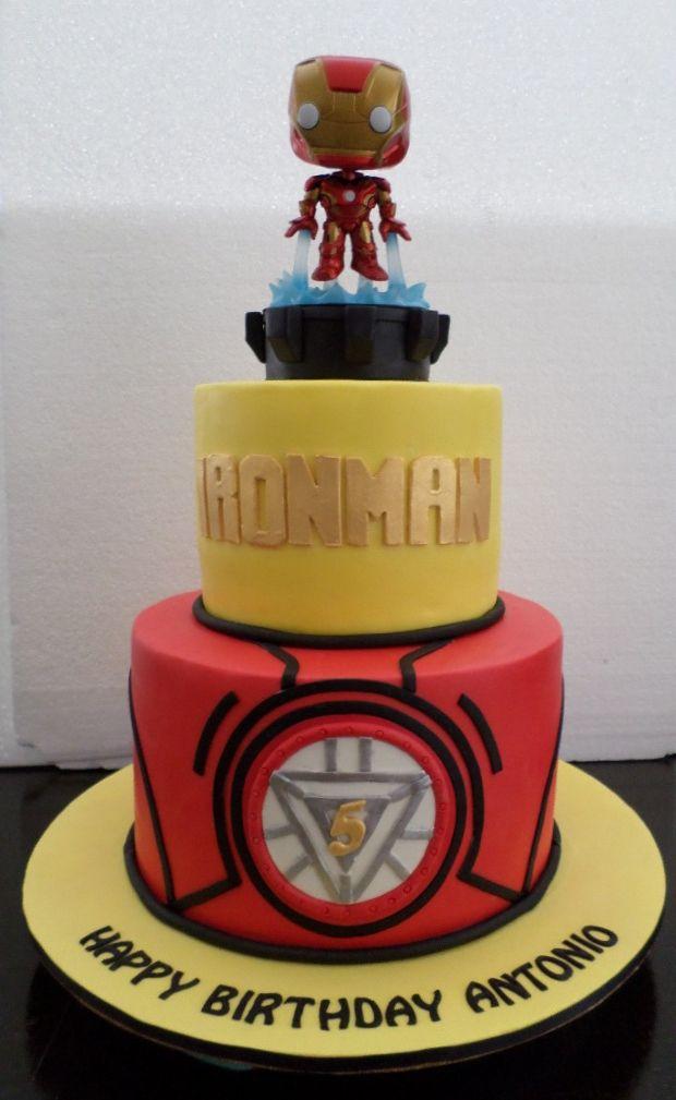 Fantastic Ironman Birthday Cake Cumpleanos Ironman Tarta De Los Personalised Birthday Cards Akebfashionlily Jamesorg