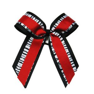 In Stock Large Three Layer Long Tail Zebra Bow by Cheerleading Company