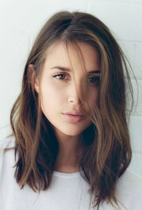 Brunette-Lob-Hairstyle-Crowley-Party | Colored Hair | Pinterest ...