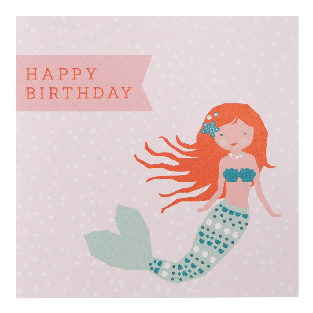 Greeting card birthday malin under the sea cute creative mermaid birthday card with chic appearance for chic birthday card design ideas 12 bookmarktalkfo Images