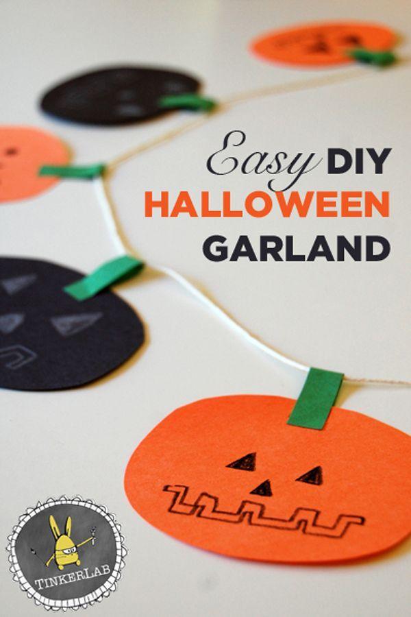 DIY Halloween Garland! Holiday decor Pinterest Diy halloween - how to make halloween decorations for kids