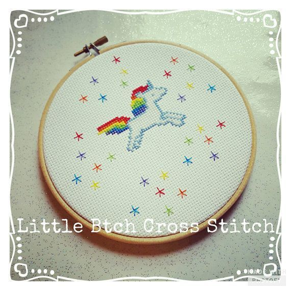 Items similar to unicorn hoop cross stitch unicorn decor unicorn gift rainbow unic cross