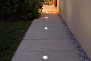 spotjes 12Vdc in roestvrijstaal RVS oprit parking ledverlichting ...