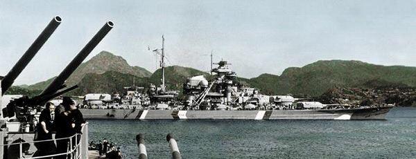戦艦ビスマルク白黒の壁紙