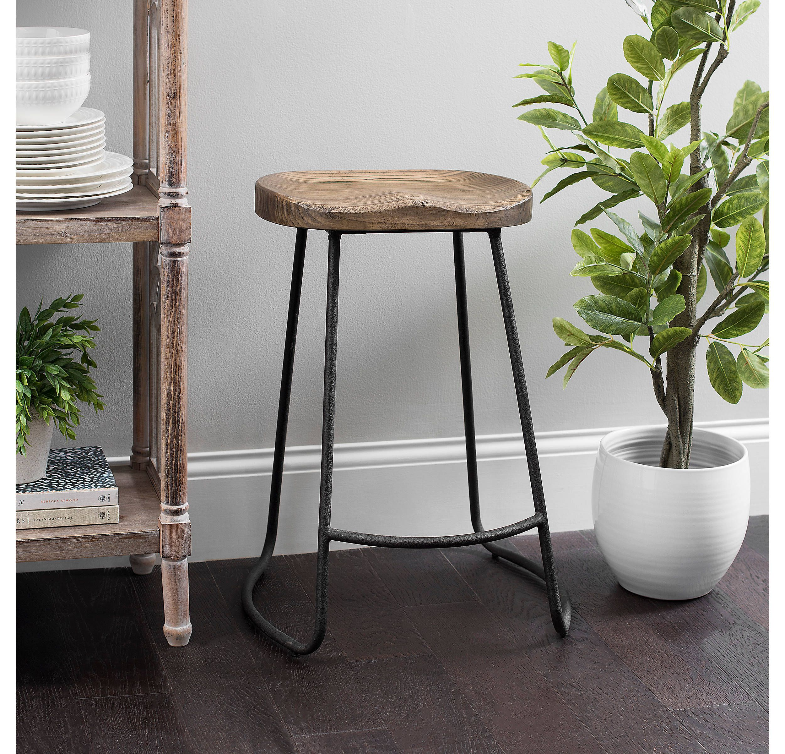 Awe Inspiring Product Details Backless Molded Wood Seat Counter Stool In Gmtry Best Dining Table And Chair Ideas Images Gmtryco