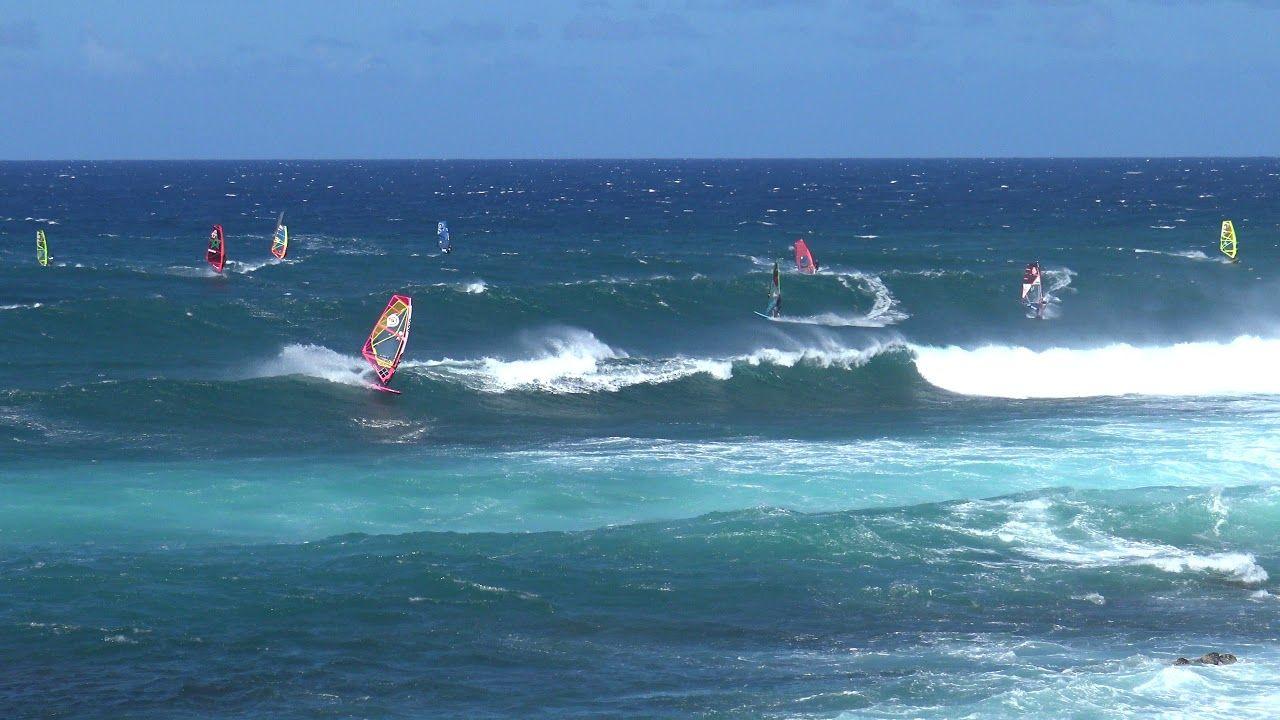 Windsurfers At Ho Okipa Beach Maui