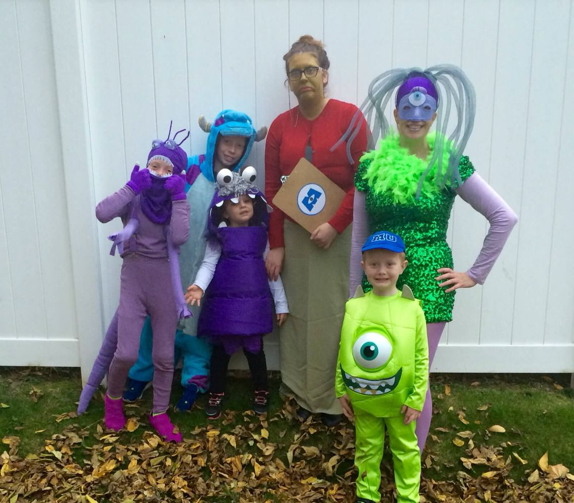 monsters inc group | halloween costumes in 2018 | pinterest