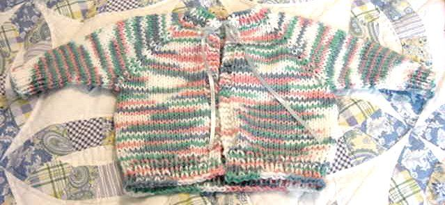 Knitting A Sweater Without A Pattern : This pattern includes buttonhole instructions and you can