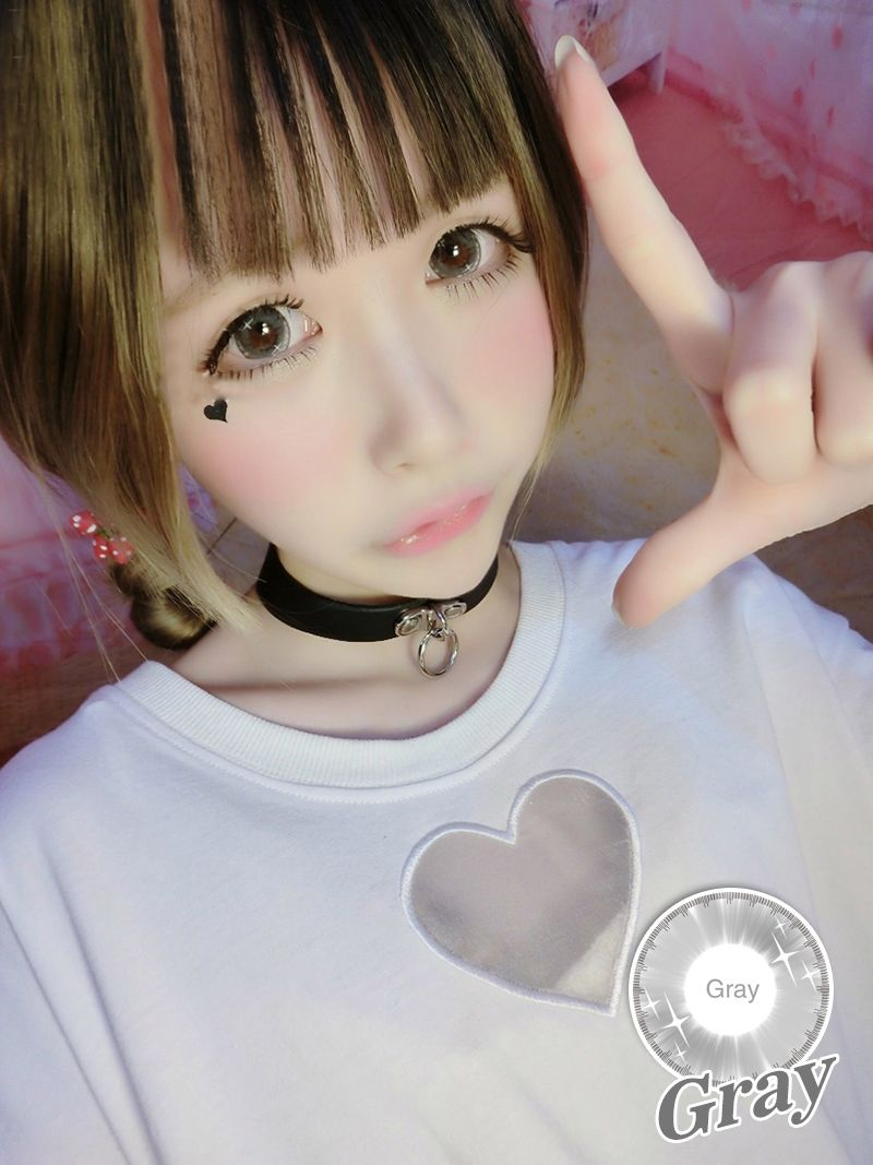 Soft Cosmetic Colored Contact Lenses Neon Colour Fairy Cosplay (Gray)