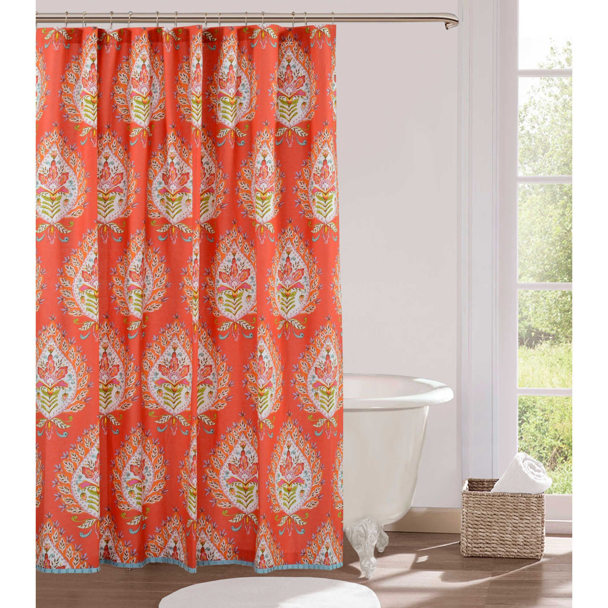 Kalani fabric shower curtain upstairs bathrooms flats and house